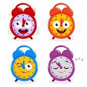 image of clocks  - Happy alarm clocks - JPG