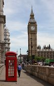 stock photo of phone-booth  - LONDON  - JPG
