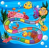 foto of game-fish  - Boardgame with underwater theme and animals - JPG