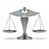 stock photo of symbol justice  - Medicine and justice - JPG