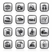 image of passenger ship  - Insurance and risk icons  - JPG