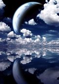pic of sorcery  - Landscape in fantasy planet - JPG