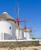 Windmills On Mykonos - Known Place Of The Island poster