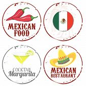 image of mexican food  - 4 stamps mexican food and drink in the Restaurant - JPG