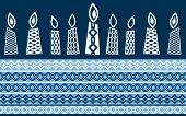 picture of hanukkah  - Hanukkah candles with pattern  - JPG