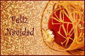 stock photo of merry christmas text  - A Feliz Navidad  - JPG