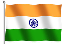 stock photo of indian flag  - Flag of India waving - JPG