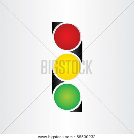 Semaphore Abstract Traffic Sign Symbol