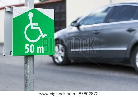 Parking for disabled persons.