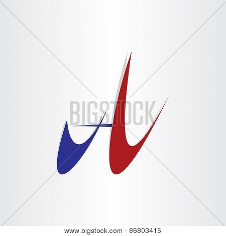 Letter A Abstract Stylized Design Icon