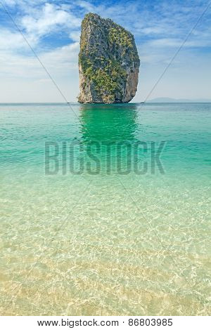 Uninhabited Tropical Island.