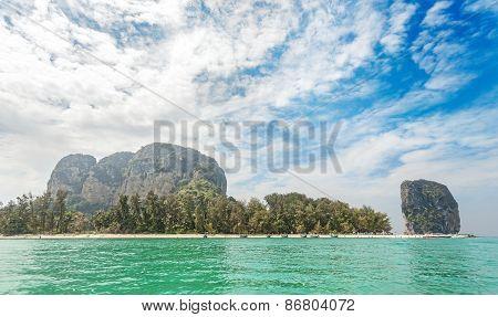 Beautiful Island Located In Krabi Province, Thailand.
