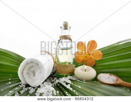 Tropical spa setting