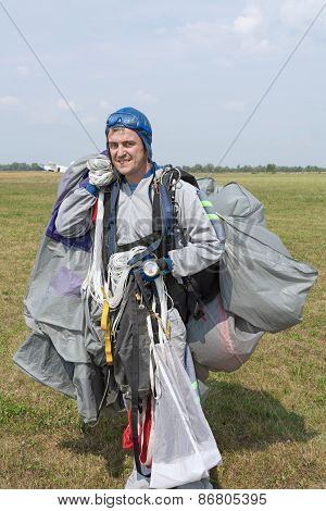 Skydiver After Landing.