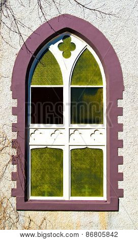 Details of on arched church window