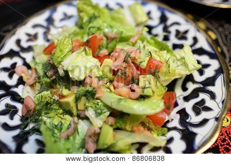 Plate With Shrimp Salad