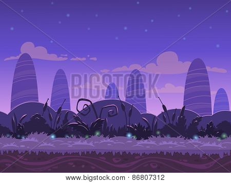 Seamless night landscape