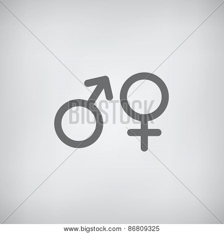 Male And Female Sex Symbol - Vector Icon
