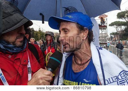 Giorgio Calcaterra Interviewed After The Marathon
