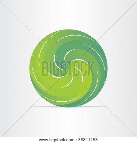 Green Eco Spring Design Element