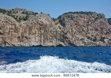 Cliffs and ocean landscape