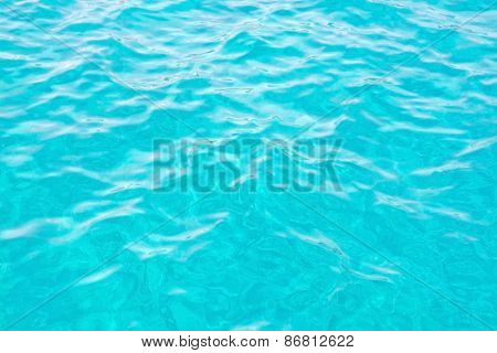 Turquoise ocean water surface