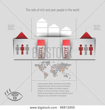 Infographics On A Light Background. Infographics For Business.