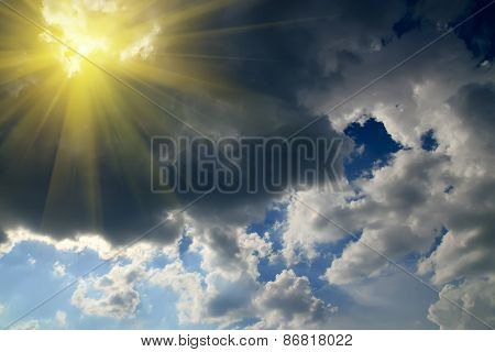 Sun And Storm Clouds