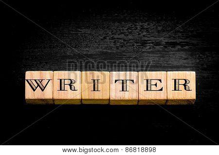 Word Writer Isolated On Black Background