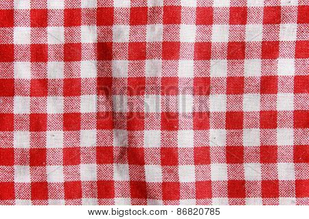 Red Linen fabric texture.
