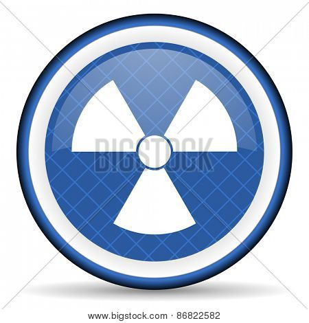 radiation blue icon atom sign