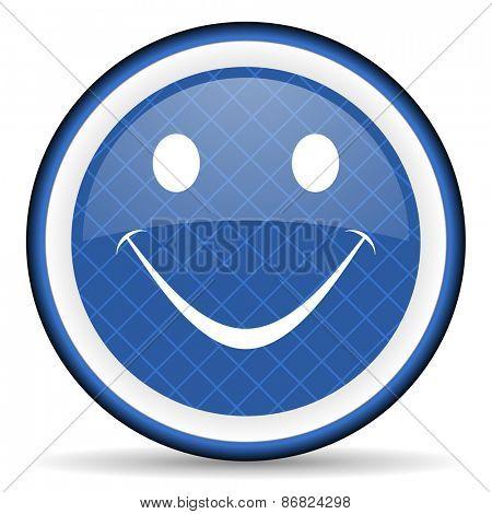 smile blue icon