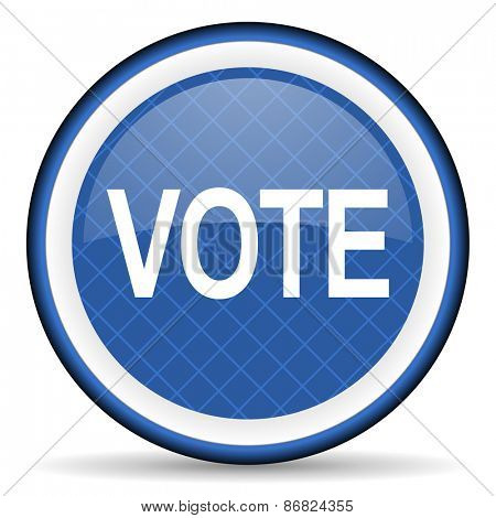 vote blue icon