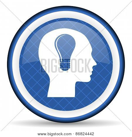 head blue icon human head sign