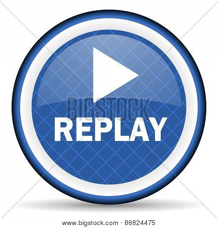 replay blue icon