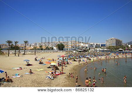 Beach In The Puerto Banus In Spain