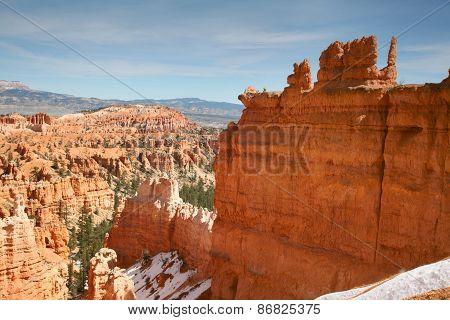 Dramatic hoodoos within Bryce Canyon Utah