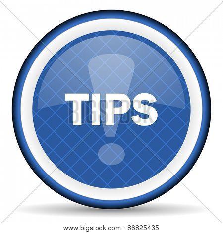 tips blue icon