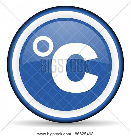 celsius blue icon temperature unit sign