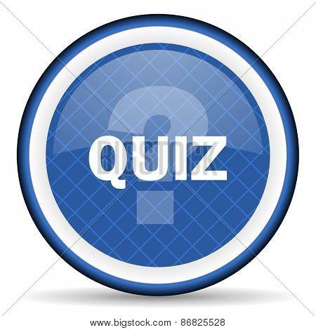 quiz blue icon