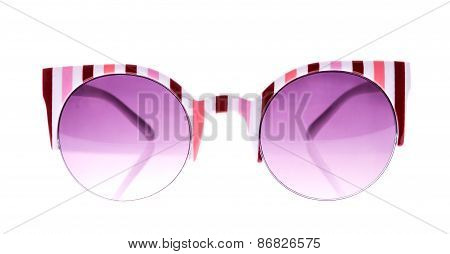 Rose And White Strip glasses