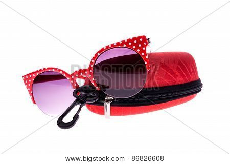 Red glasses With Case
