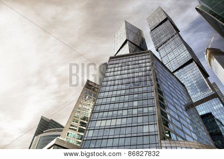 Buildings of Moscow city, Russia