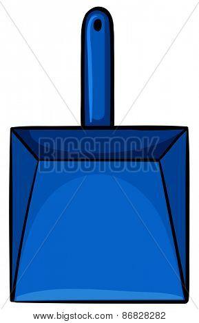 Close up simple blue dustpan