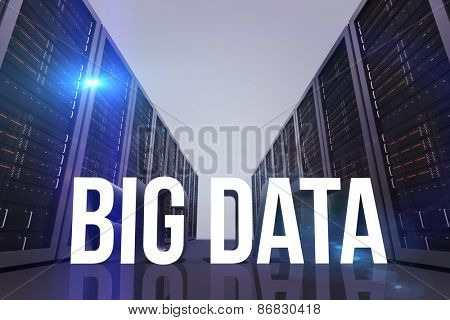 big data against server hallway