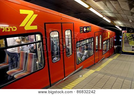 Carmelite - Underground Funicular Railway In Haifa