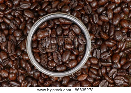 Coffee Beans And Stainless Filter