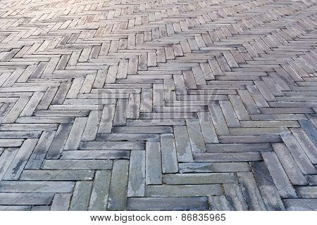 Gray Bricks In The Floor