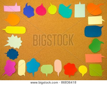 Colorful Balloons (cork Board Background)