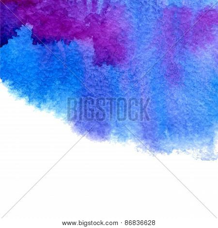 Vector Watercolor Illustration Blue And Purple Background